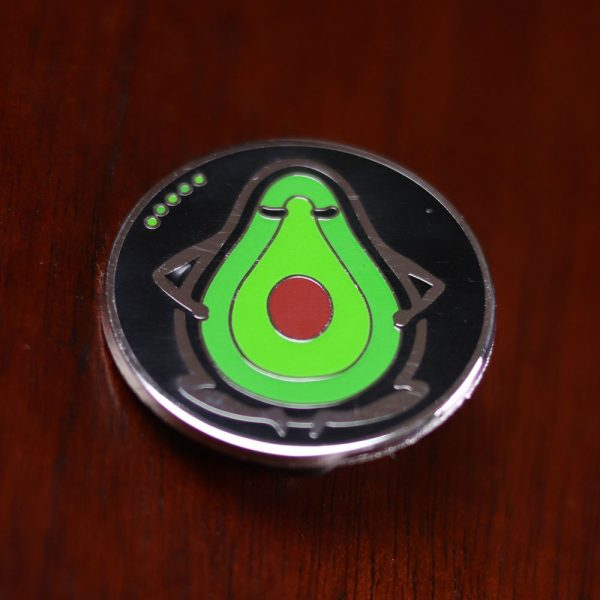 Mr. Bill - Round Pin (Silver/Nickel)