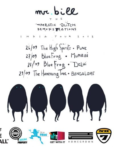 Mr. Bill - The Operatic Glitch Demonstrations Tour - India 2013