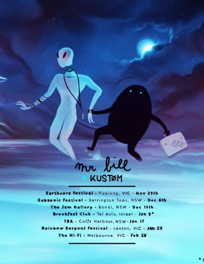 Mr. Bill + Kustom Tour Australia 2014-2015